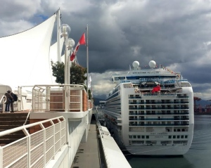 The Ruby Princess arrived at Canada Place in Vancouver April 29, kicking off the Alaska cruise season. (Tina Lovgreen/CBC)