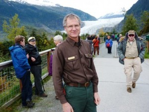 Mendenhall Glacier Visitor Center Director John Neary oversees a destination that attracted about half of Southeast's 1 million cruise-ship passengers this season. (Photo by Ed Schoenfeld/CoastAlaska News)