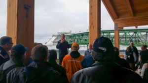 Icy Strait Point dock grand opening ceremony