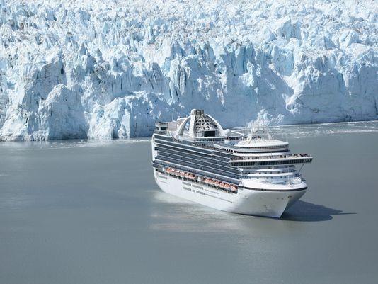The 3,092-passenger Emerald Princess in Alaska's Glacier Bay National Park