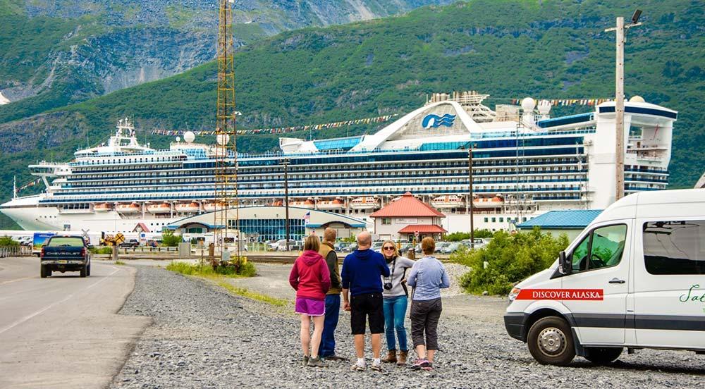 Princess cruise ship in Whittier Alaska