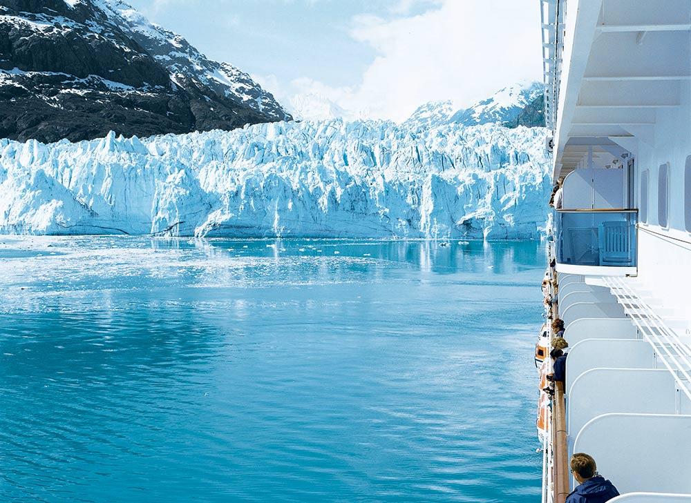 Glacier Bay from ship balcony