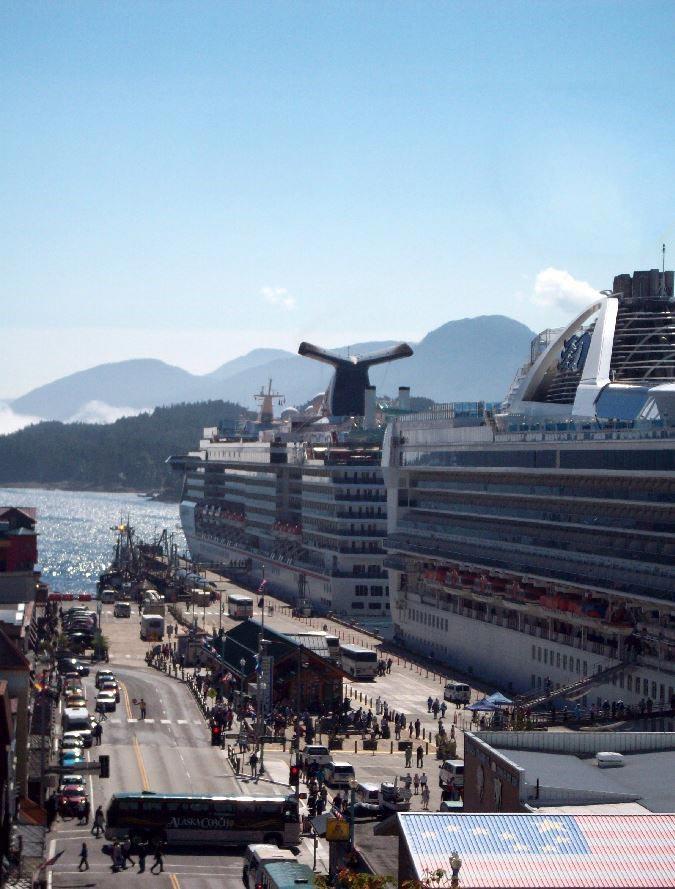 Cruise ship in Ketchikan