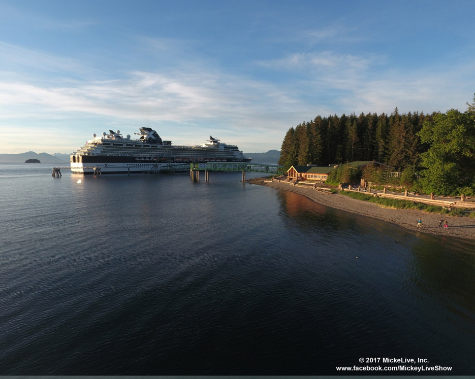 Celebrity cruise ship near Hoonah AK