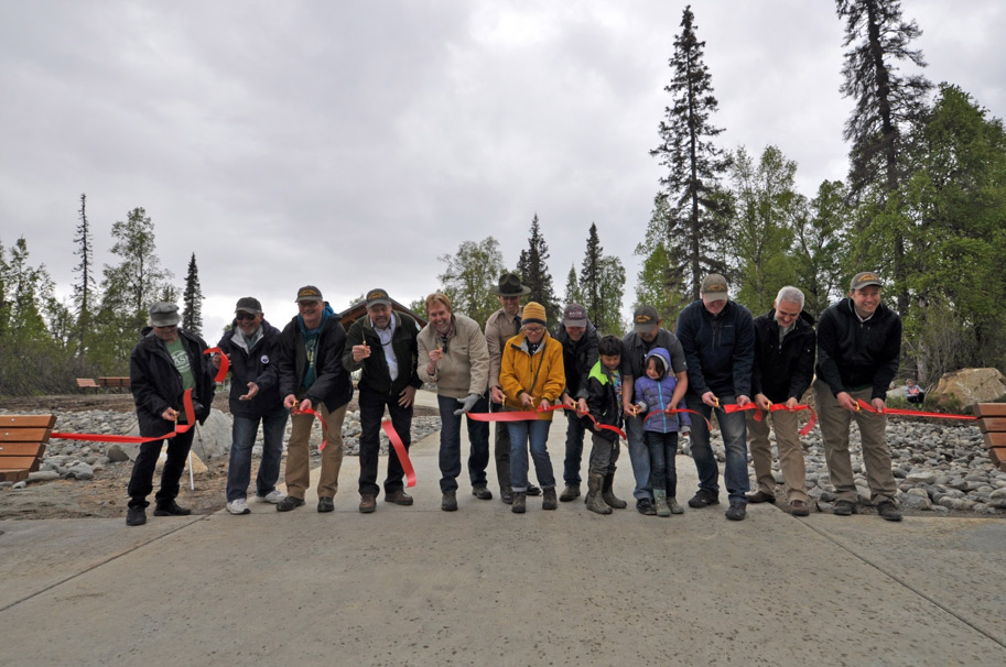 ribbon cutting at Denali State Park