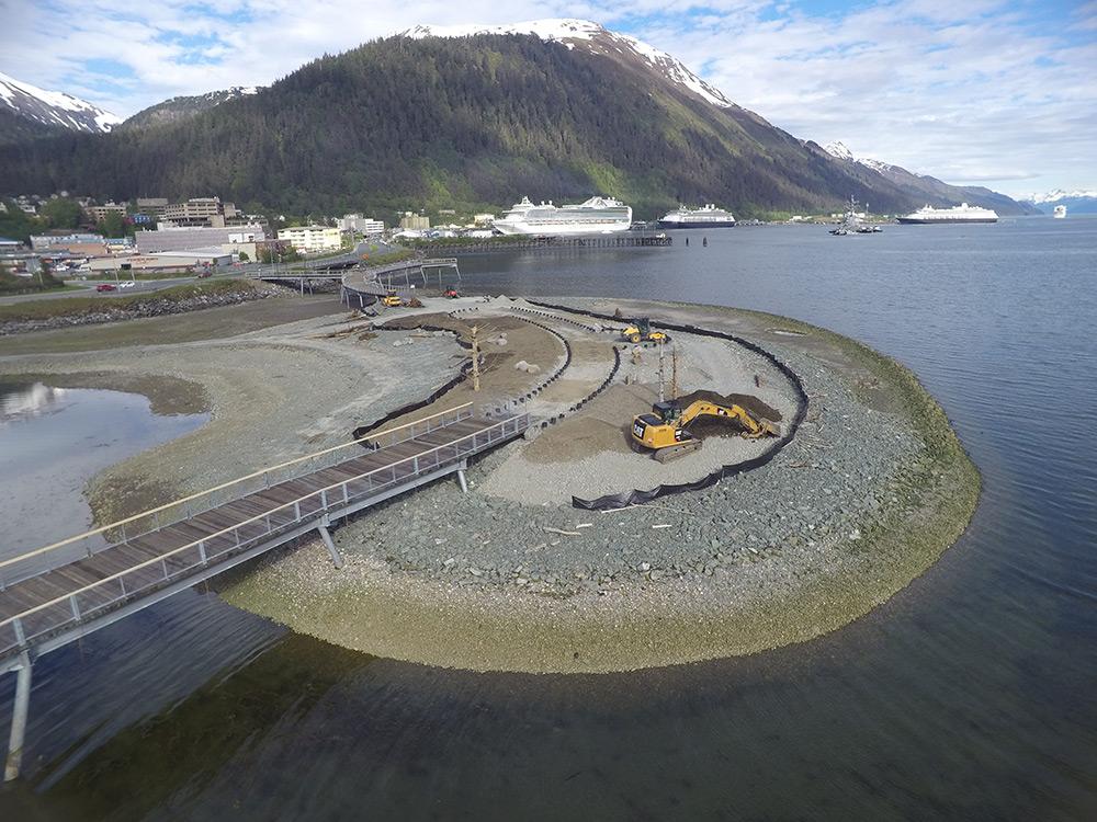 Whale sculpture island, Juneau, AK