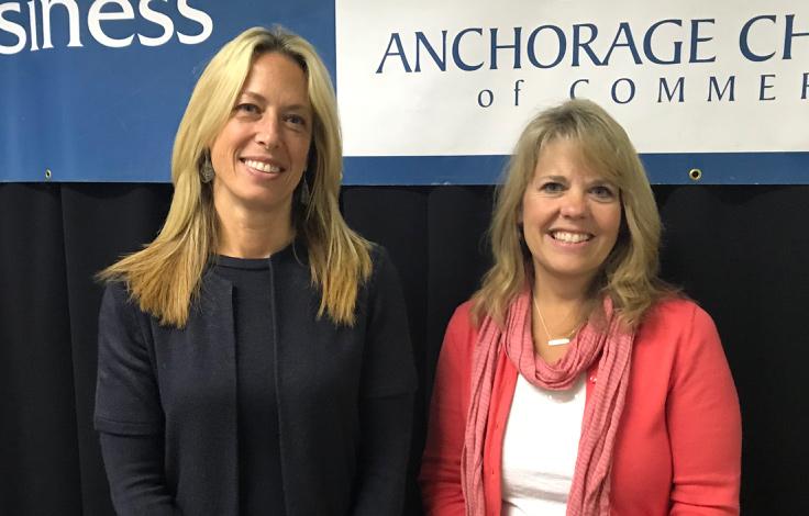 ATIA's Sarah Leonard and Visit Anchorage's Julie Saupe