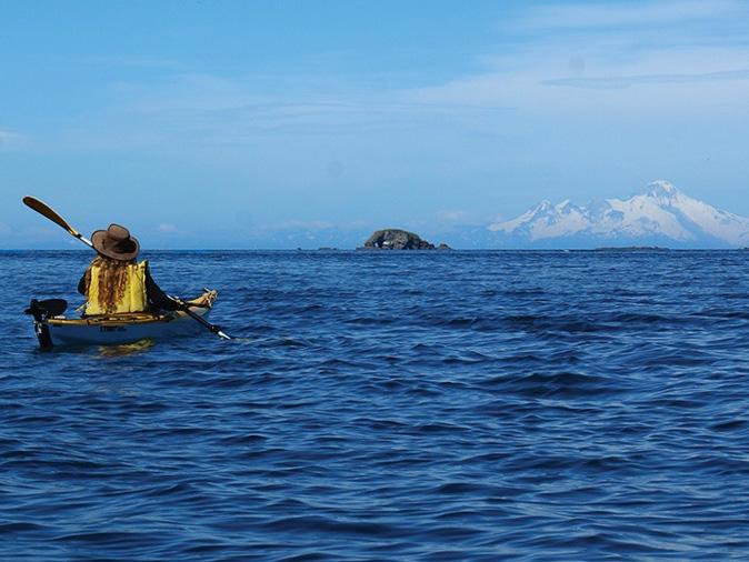kayaker in Homer Alaska