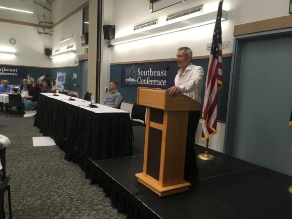 John Binkley at conference