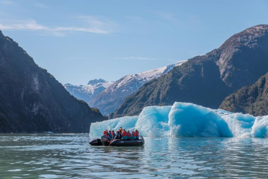Guided Zodiac cruising and kayak excursions launched directly from the ship