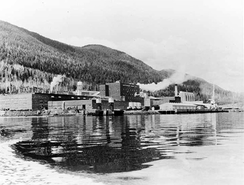 View of Ketchikan Pulp Co. mill