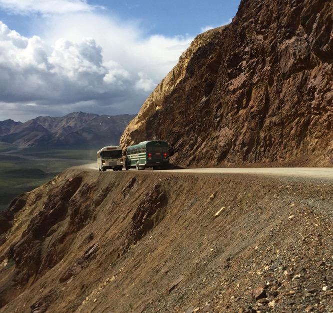 buses on Pretty Rocks road