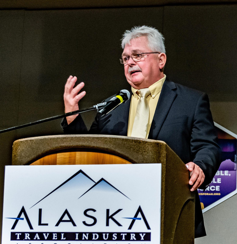 John Litten, who owned Sitka Tours for more than 37 years, received a Lifetime Achievement Award. ATIA/Frank Flavin